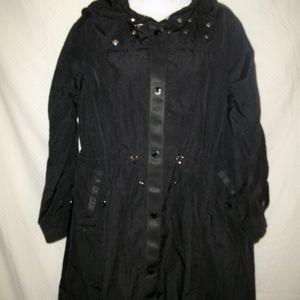 Moncler Lorado Hooded A-Line Jacket Sz  S
